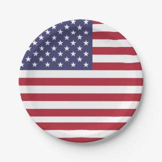 Patriotischer Pappteller mit Flagge von USA