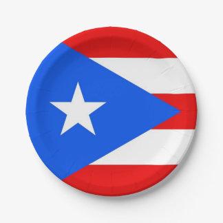 Patriotischer Pappteller mit Puerto- Ricoflagge