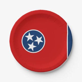 Patriotischer Pappteller mit Tennessee-Flagge
