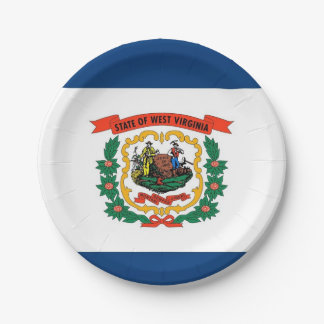 Patriotischer Pappteller mit West- Virginiaflagge