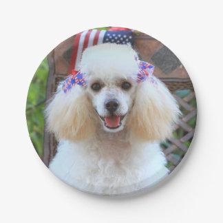Patriotischer Pudelhundepapier-Teller Pappteller