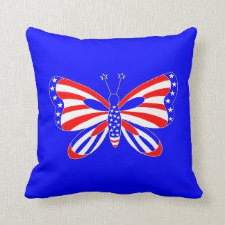 Patriotischer Schmetterling Kissen