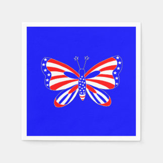 Patriotischer Schmetterling Papierserviette