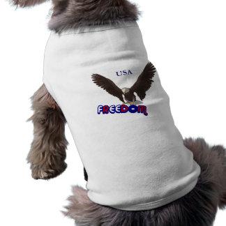 Patriotischer T - Shirt Freiheits-Adler USA Hunde