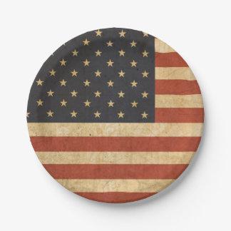 Patriotischer USA-Flaggen-Pappteller Pappteller