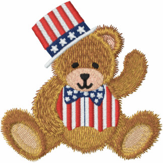 Patriotischer USA-Teddybär Bestickte Sportjacken