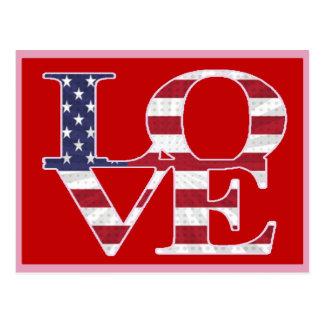 Patriotischer Valentinstag Postkarte