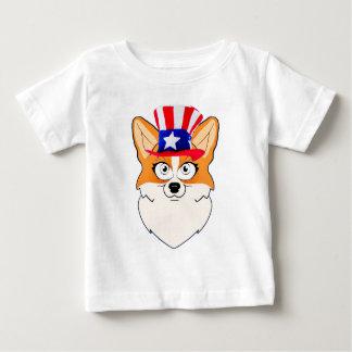 Patriotischer WaliserCorgi Baby T-shirt
