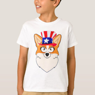 Patriotischer WaliserCorgi T-Shirt