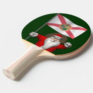 Patriotischer Weihnachtsmann, der Florida Tischtennis Schläger