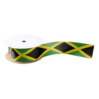 Patriotisches Band mit Flagge von Jamaika Satinband