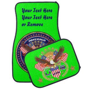 Patriotisches bestes Feiertags-Wahl-Geschenk Autofußmatte