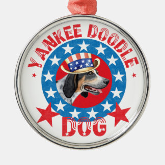 Patriotisches Bluetick Silbernes Ornament