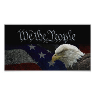 Patriotisches Eagle u. Flagge Kunst Photo