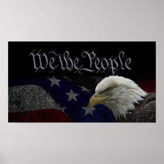 Patriotisches Eagle u. Flagge Poster