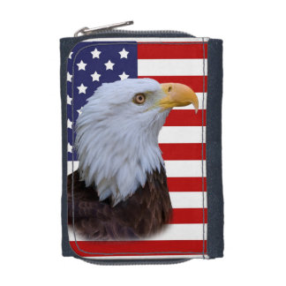 Patriotisches Eagle und USA-Flagge