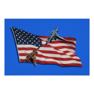 Patriotisches Eagles Poster