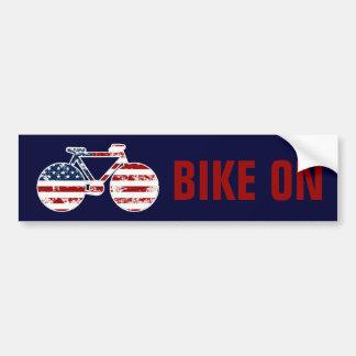 patriotisches Flagge USAfahrrad Autoaufkleber