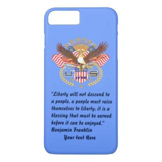 Patriotisches Freiheits-Friedensbaby-Blau iPhone 8 Plus/7 Plus Hülle