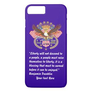 Patriotisches Freiheits-Friedenssturm-Blau iPhone 8 Plus/7 Plus Hülle