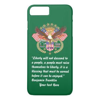 Patriotisches FriedensForest Green iPhone 7 iPhone 8 Plus/7 Plus Hülle