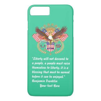 Patriotisches FriedensForest Green-Meer iPhone 8 Plus/7 Plus Hülle