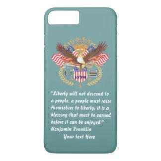 Patriotisches Friedenswaldozean-Grün iPhone 8 Plus/7 Plus Hülle