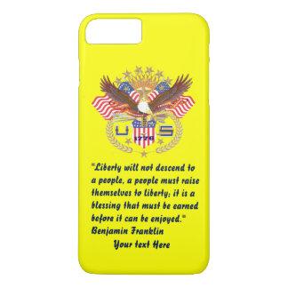 Patriotisches Friedenswaldpflaumengelb iPhone 8 Plus/7 Plus Hülle