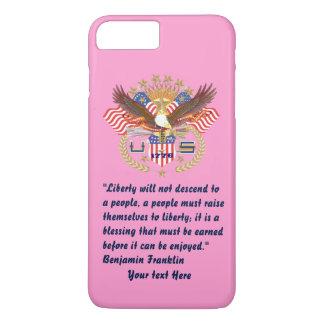 Patriotisches Friedenswaldrosa iPhone 8 Plus/7 Plus Hülle