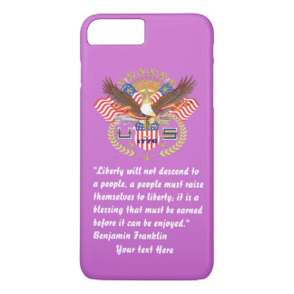 Patriotisches Friedenswaldveilchen iPhone 8 Plus/7 Plus Hülle