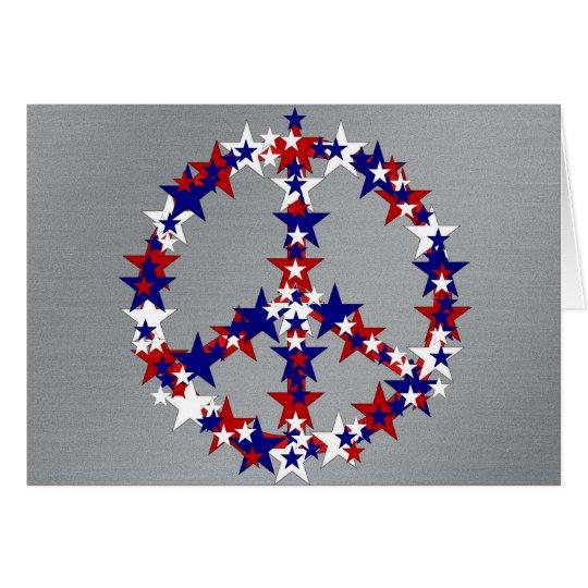 Patriotisches Friedenszeichen Karte