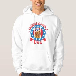 Patriotisches golden retriever hoodie