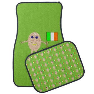 Patriotisches irisches Ei-Auto-Matten-Set Automatte