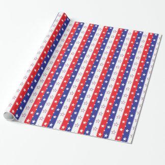 Patriotisches Muster Geschenkpapier