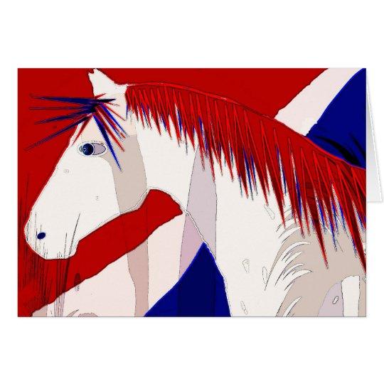 Patriotisches Pferd Karte