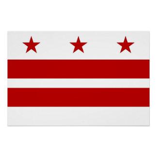 Patriotisches Plakat mit Flagge des Washington DC Poster