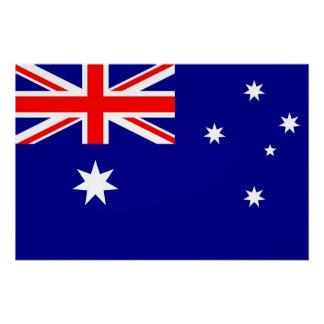 Patriotisches Plakat mit Flagge von Australien Poster