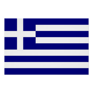 Patriotisches Plakat mit Flagge von Griechenland Poster