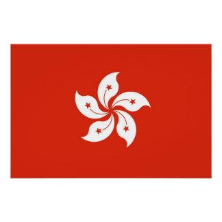 Patriotisches Plakat mit Flagge von Hong Kong Poster
