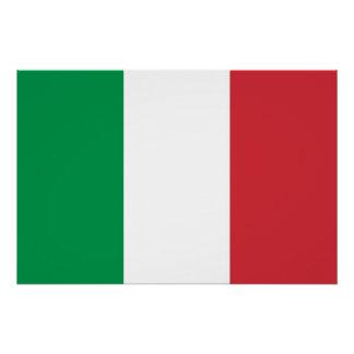 Patriotisches Plakat mit Flagge von Italien Poster