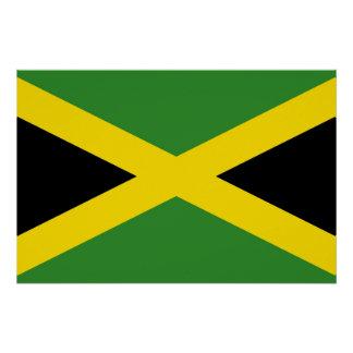 Patriotisches Plakat mit Flagge von Jamaika Poster