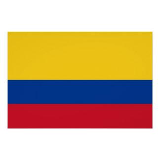 Patriotisches Plakat mit Flagge von Kolumbien Poster
