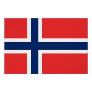 Patriotisches Plakat mit Flagge von Norwegen Poster