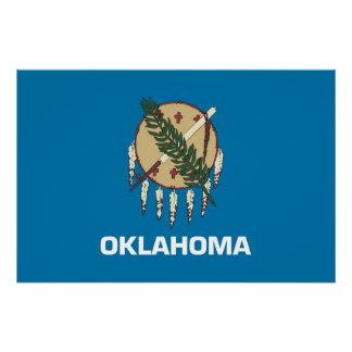 Patriotisches Plakat mit Flagge von Oklahoma Poster