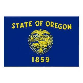 Patriotisches Plakat mit Flagge von Oregon Poster