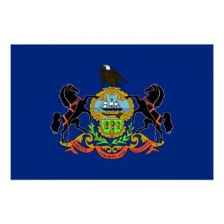 Patriotisches Plakat mit Flagge von Pennsylvania Poster