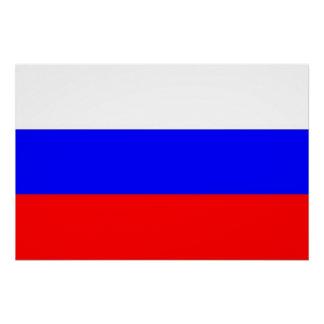 Patriotisches Plakat mit Flagge von Russland Poster