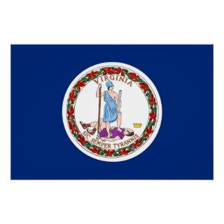 Patriotisches Plakat mit Flagge von Virginia Poster