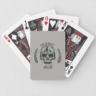 Patriotisches Quebec 1608 grunges Metall Bicycle Spielkarten