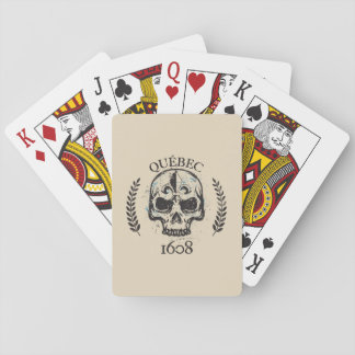 Patriotisches Quebec 1608 grunges Metall Spielkarten